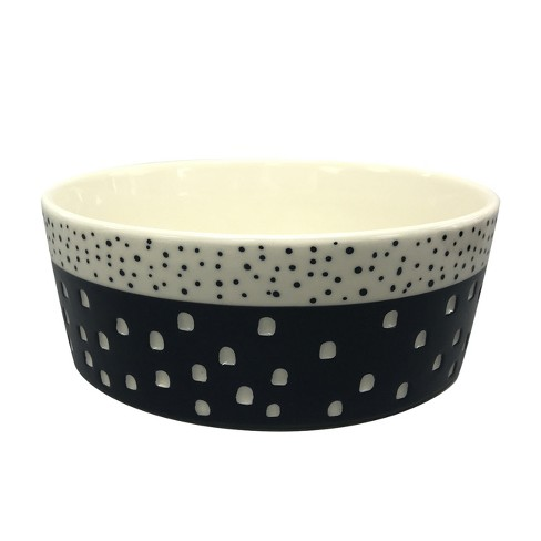Stoneware Pet Bowl with Carved Pattern - Boots & Barkley™ - image 1 of 1
