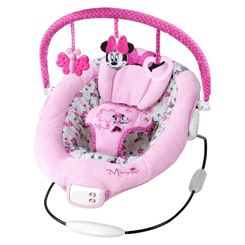 Disney Baby Minnie Mouse Garden Delights Bouncer - image 1 of 7