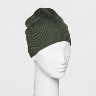 Women's Single Layer Ribbed Beanie - Wild Fable™ Green