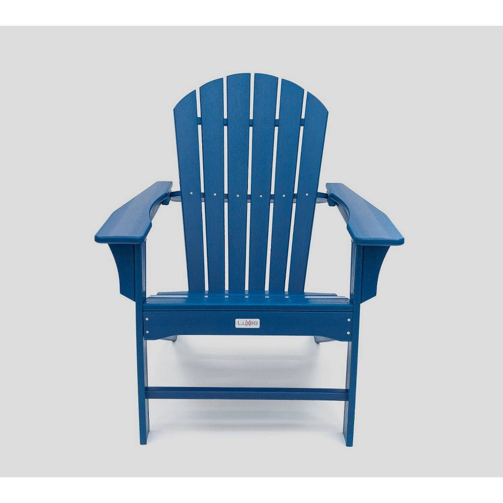 Image of Hampton Poly Outdoor Patio Adirondack Chair - Navy - LuXeo