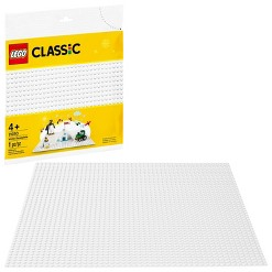 LEGO Classic White Baseplate 11010 Creative Toy for Kids