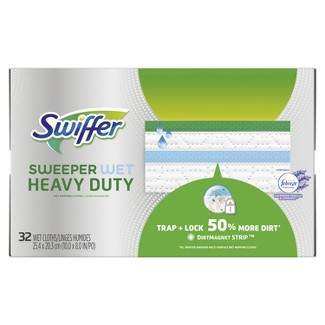 Swiffer Sweeper Heavy Duty Wet Cloths - 32ct