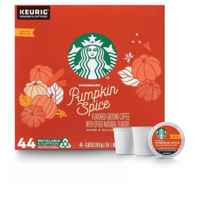 Starbucks Pumpkin Spice Medium Roast Coffee - Keurig K-Cup Pods - 44ct - image 1 of 5