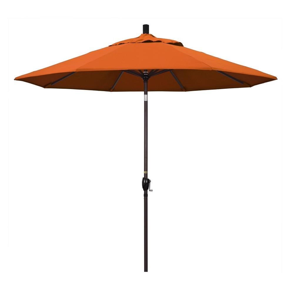 9 Aluminum Push Tilt Patio Umbrella Tuscan