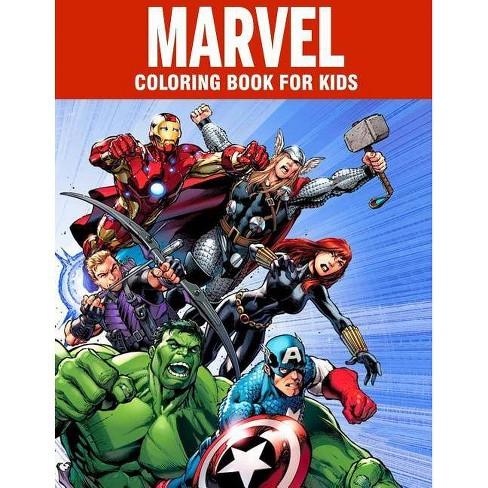 MARVEL coloring book for kids - by James Bloom (Paperback)