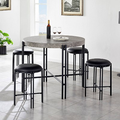 5pc Morgan Counter Height Dining Set Black - Steve Silver Co.