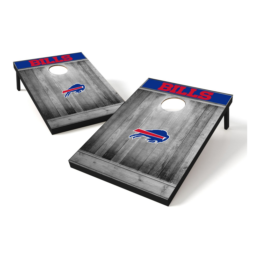 Buffalo Bills Wild Sports 2x3 Rustic Wooden Plaque Gray Wash Tailgate Toss