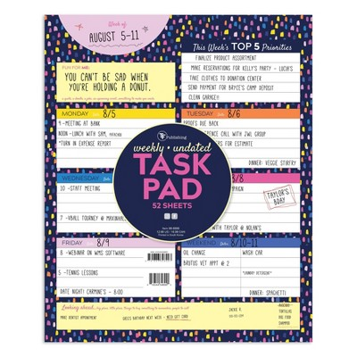 """Undated Planner 9"""" x 12"""" Bright Weekly Large Task Pad - TF Publishing"""