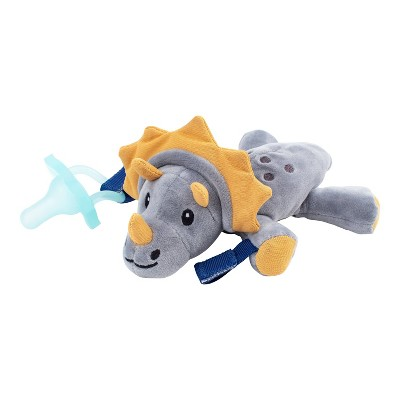 Dr. Brown's Animal Lovey Pacifier & Plush Holder - Triceratops