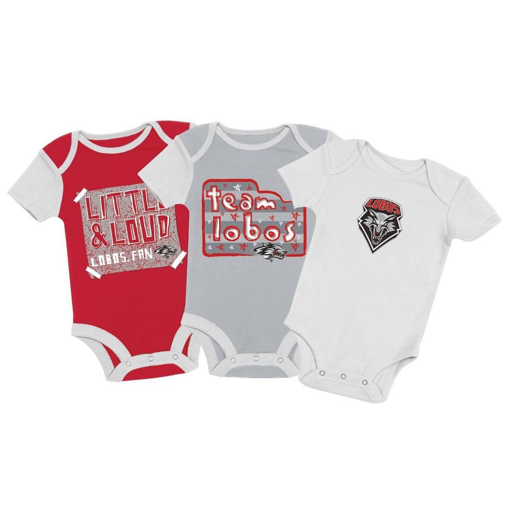 Ncaa New Mexico Lobos Baby Boys 39 3pc Bodysuit Set 6 9m