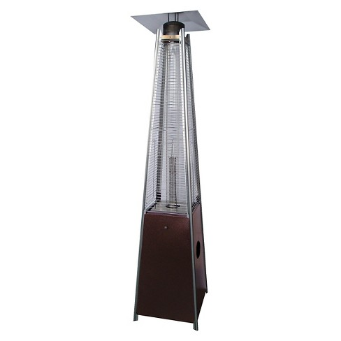 Tall Glass Tube Patio Heater Hammered Bronze Target