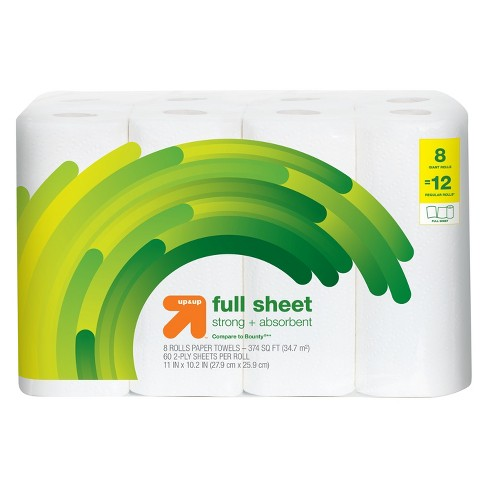 Full Sheet Paper Towels - Giant Rolls - Up&Up™ (Compare to Bounty) - image 1 of 1