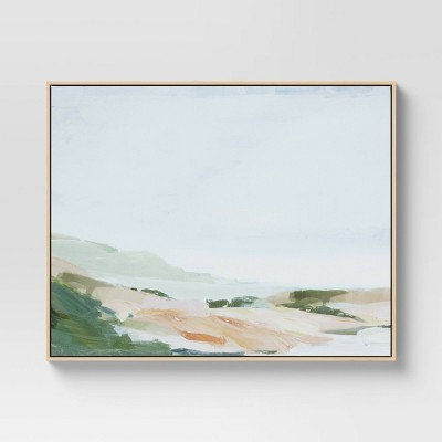 "30"" x 24"" Hill Framed Wall Canvas Green - Threshold™"