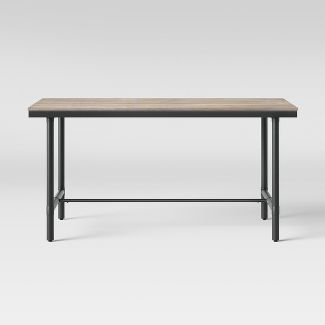 """60"""" Danvers Farmhouse Dining Table Black Metal and Gray Wash - Threshold™"""