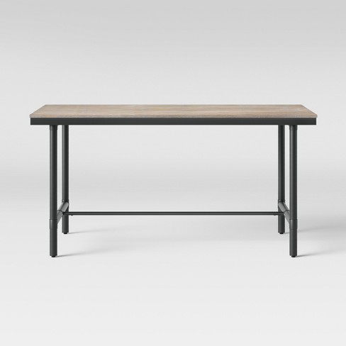 """60"""" Danvers Farmhouse Dining Table Black Metal and Gray Wash - Threshold™ - image 1 of 5"""