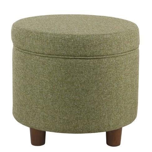 Enjoyable Round Storage Ottoman Homepop Machost Co Dining Chair Design Ideas Machostcouk