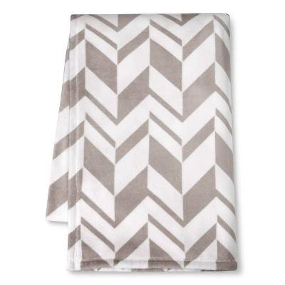 Micromink Printed Blanket - Gray (Twin)- Room Essentials™
