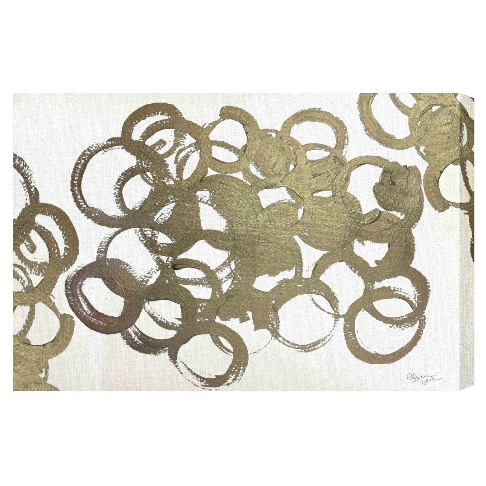 "Image of ""Oliver Gal Unframed Wall """"De Gala"""" Canvas Art (24x16), Gold White"""