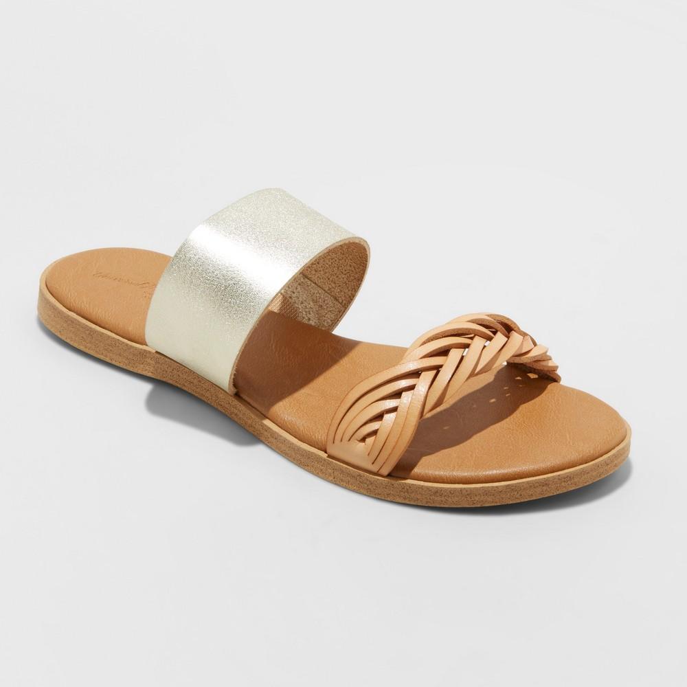 Women's Torri Two Brand Braided Sandals - Universal Thread Gold 6.5