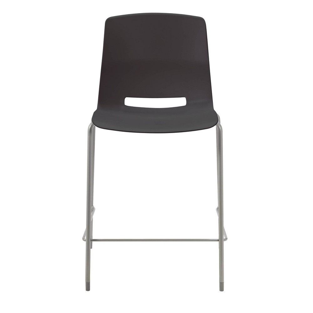 "Image of ""25"""" Lola Stacking Office Counter Stool Black - Olio Designs"""