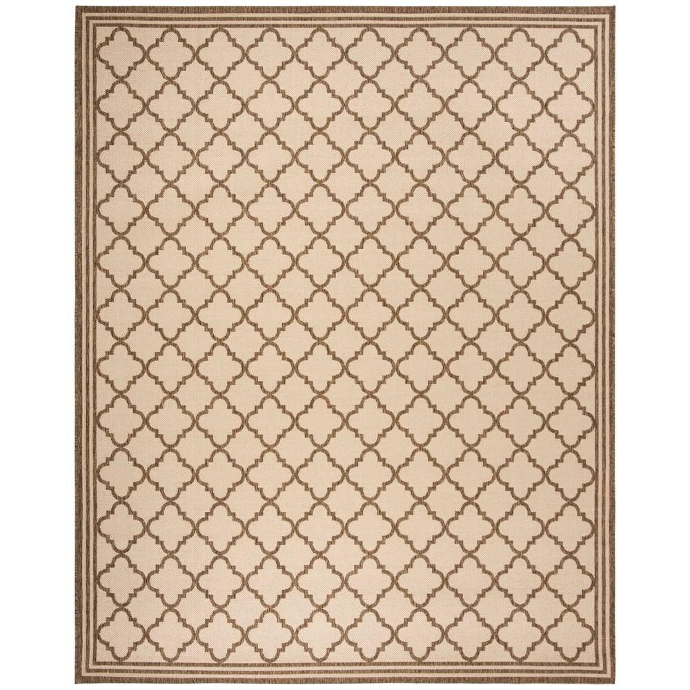 8'X10' Quatrefoil Design Loomed Area Rug Cream/Beige (Ivory/Beige) - Safavieh