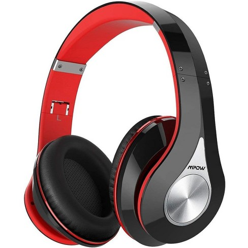 Mpow 059 Bluetooth Headphones Over Ear Foldable Soft Memory Protein Earmuffs W Built In Mic Wired Mode Hi Fi Stereo Wireless Headset For Online Class Home Office Pc Cell Phones Tv Red Black Target