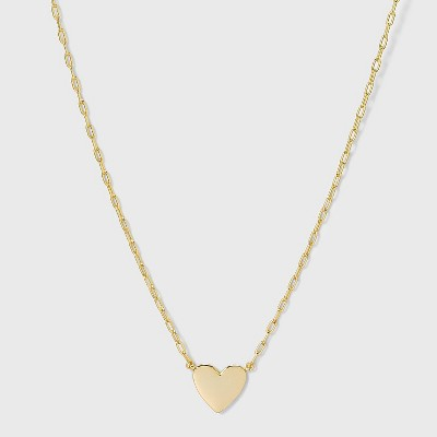 SUGARFIX by BaubleBar 14K Gold Plated Delicate Heart Pendant Necklace - Gold