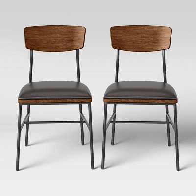 2pk Telstar Mid-Century Modern Mixed Material Dining Chair - Project 62™