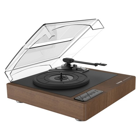 Toshiba Turntable Stereo with Built-in Speakers, Bluetooth & USB for MP3 Recording - Brown Wood Look (TY-LP30) - image 1 of 1