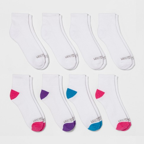 Women's Fruit of the Loom® 6+2 Bonus pk Ankle Socks - White 4-10 - image 1 of 2