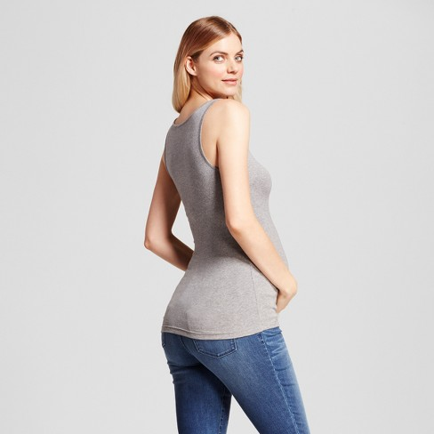 e1e4e776415 Maternity Scoop Neck Tank - Isabel Maternity By Ingrid & Isabel™ : Target