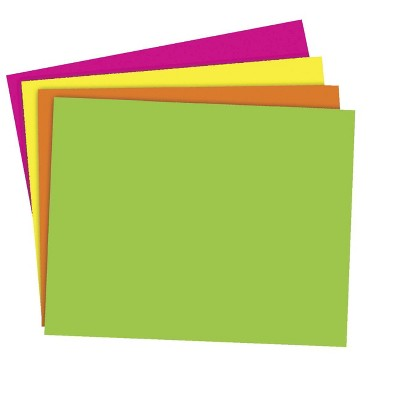 School Smart Poster Board, 11 x 14 Inches, Assorted Neon Colors, pk of 25