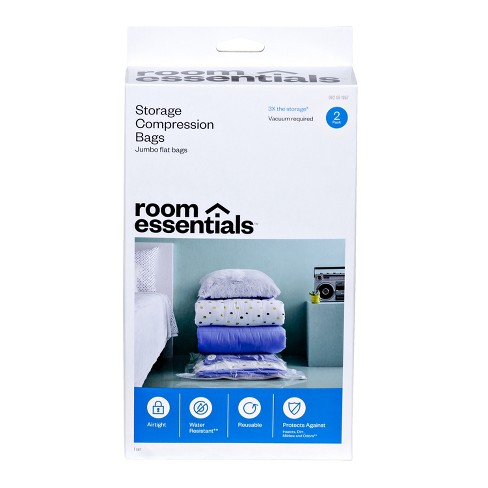 2 Compression Bags Jumbo Clear - Room Essentials™ - image 1 of 4