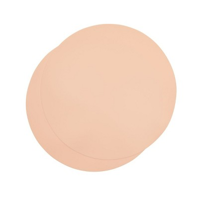 Juvale 2 Pack Silicone Microwave Mats, Pale Pink Kitchen Pot Holders, 11.75 In Round Trivets