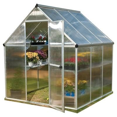 6 x 6 x 7 Nature Greenhouse - Silver - Palram