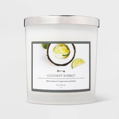 20oz Jar 3-Wick Coconut Sorbet Candle - Threshold™