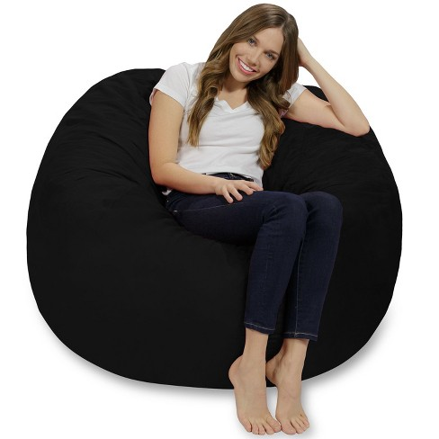 4' Bean Bag Chair with Memory Foam Filling and Washable Cover - Relax Sacks - image 1 of 4