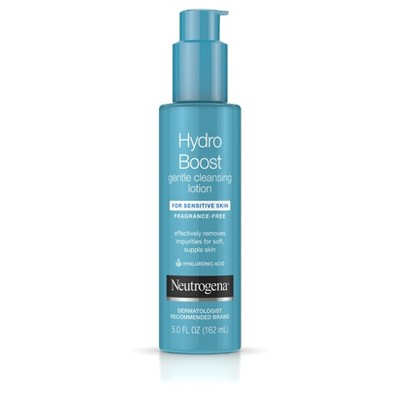 Facial Cleanser: Neutrogena Hydro Boost Gentle Cleansing Lotion