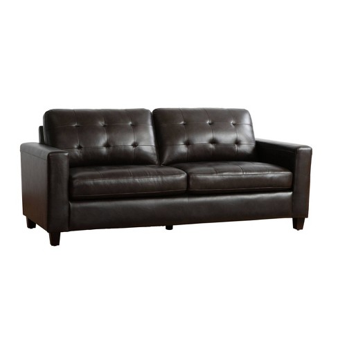 Libson Top Grain Leather Sofa Brown - Abbyson Living - image 1 of 4