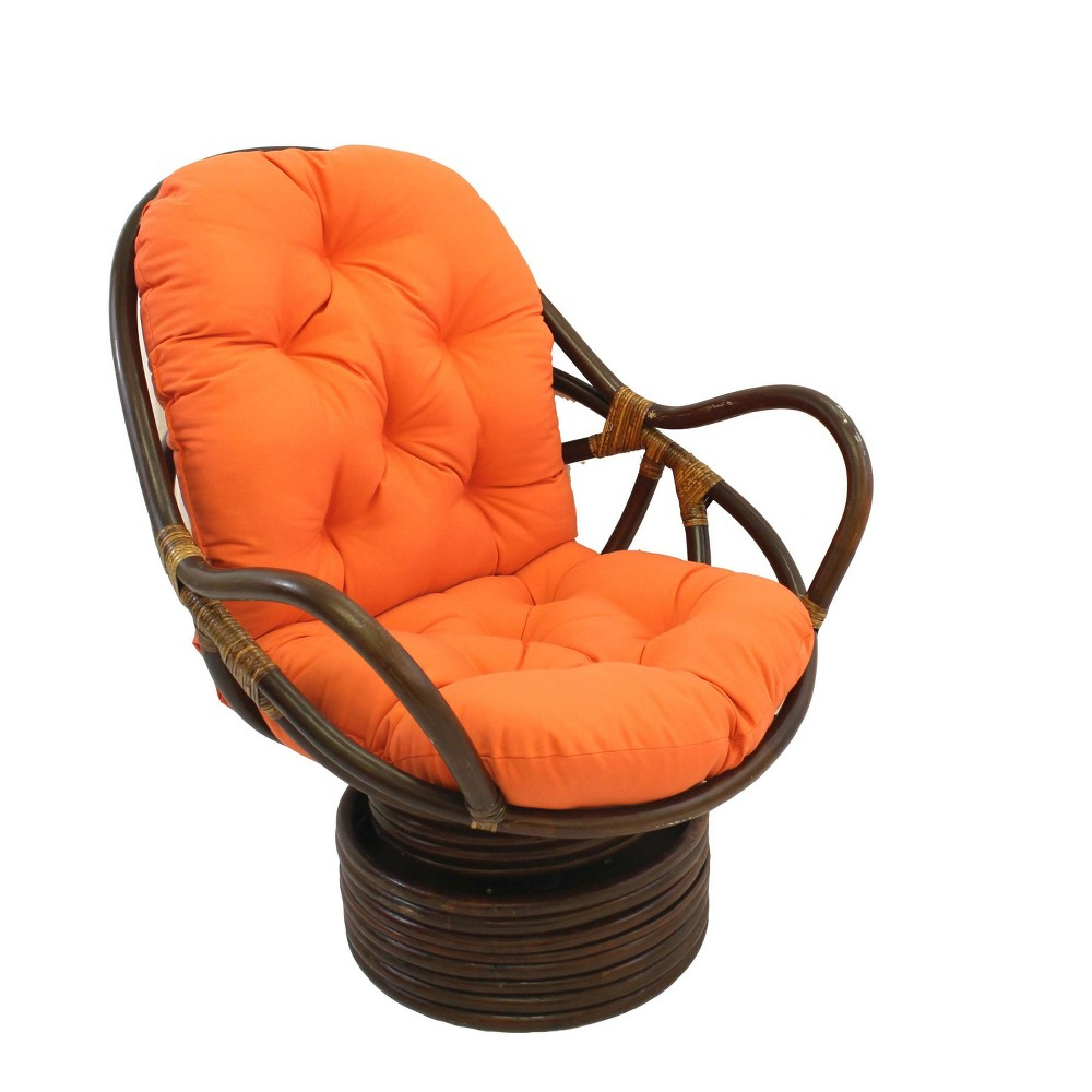 Swivel Rocker With Twill Cushion Tangerine Dream International Caravan