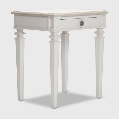 Benson End Table Nightstand with Drawers Light Gray - Finch
