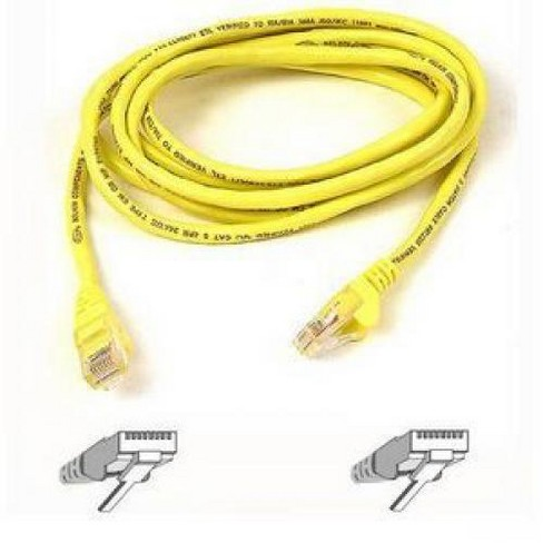 2 Pack Cat5e Ethernet Cable 5 ft White Gold Plated Contacts Male to Male Patch Cord