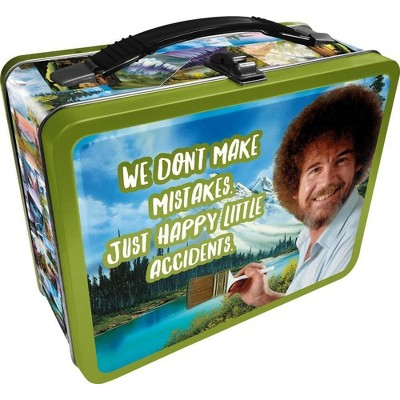 """NMR Distribution Bob Ross """"Happy Accidents"""" Collectible Tin Lunchbox"""