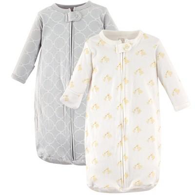 Hudson Baby Infant Cotton Long-Sleeve Wearable Sleeping Bag, Sack, Blanket, Duck