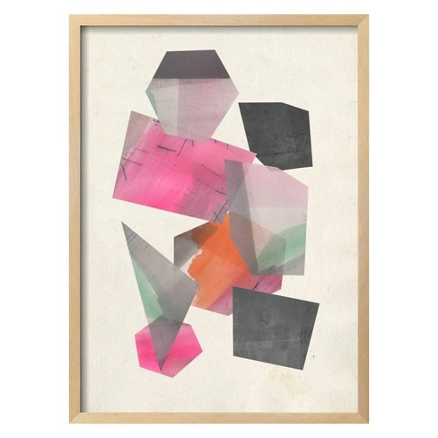 Collaged Shapes II by Jennifer Goldberger Framed Art Print - Art.com - image 1 of 3