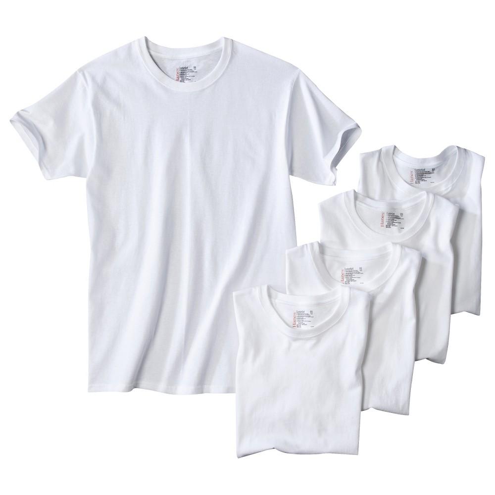 Hanes Men 39 S 5pk Crew Neck T Shirt With Fresh Iq Xxl White