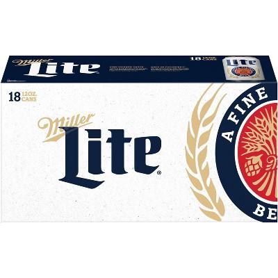 Miller Lite Beer - 18pk/12 fl oz Cans