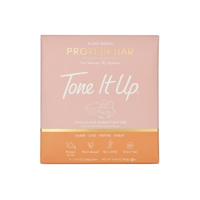 Tone It Up Plant-Based Chocolate Peanut Butter Bar - 4ct