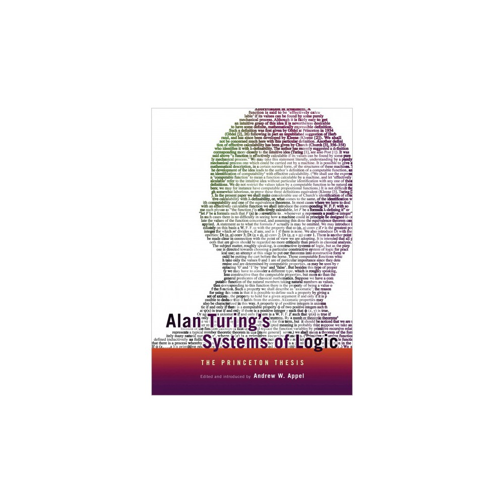 Alan Turing's Systems of Logic (Reprint) (Paperback)