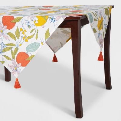 Lemon & Bee Floral Table Throw - Opalhouse™
